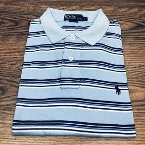 Polo Ralph Lauren Blue Navy & White Stripe Shirt L